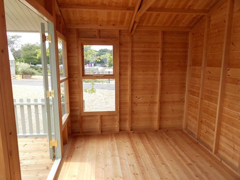 Inside the 3.0 x 3.6m Morston Summerhouse at our Burford Show Site