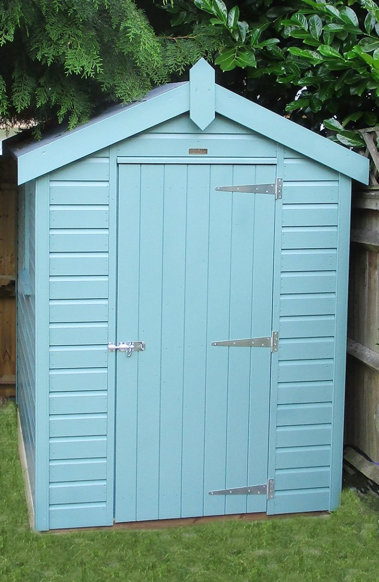 FSC® Certified Timber Classic Shed in Weybridge Surrey in the colour Mint