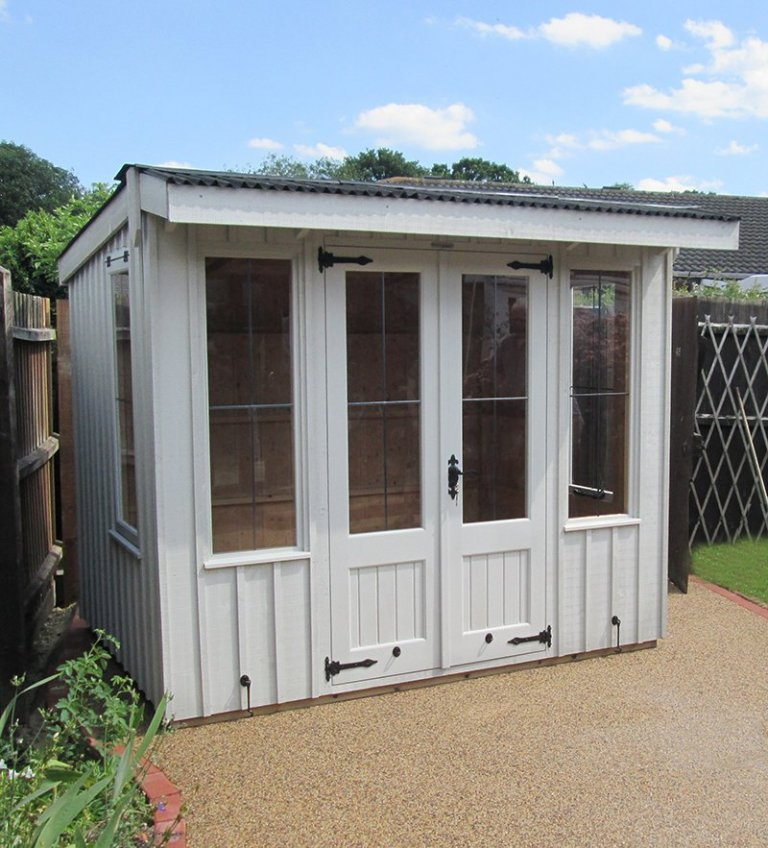 Traditional Flatford Summerhouse in Wilford, Nottinghamshire in Earls Grey