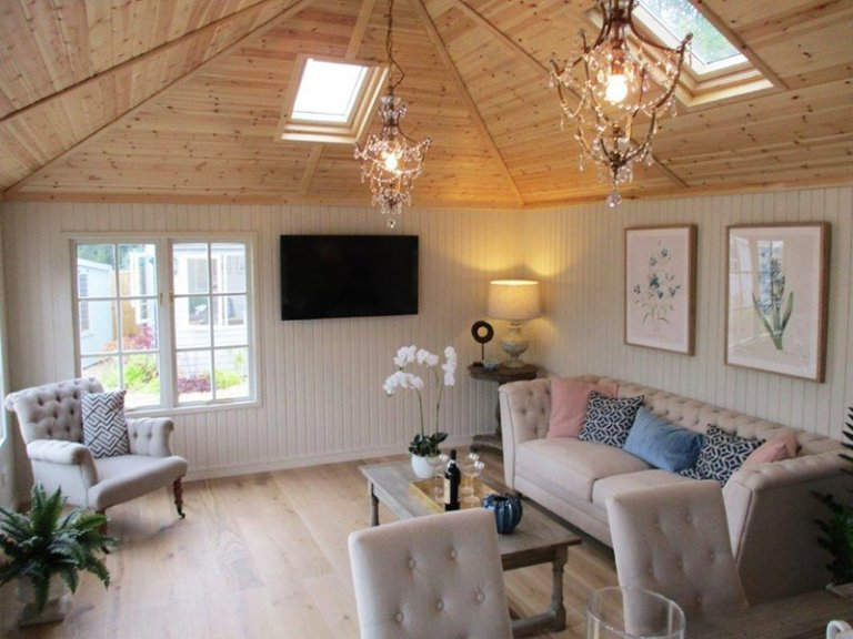 Inside the 4.2 x 6.0m Garden Room at our Cranleigh Show Site