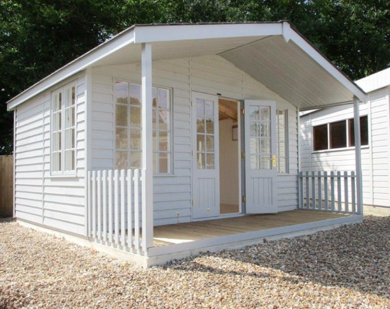 4.2 x 4.2m Morston Summerhouse at our Cranleigh show site