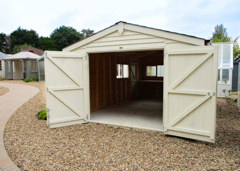 3.6 x 6.0m Garage at our Cranleigh Show Site