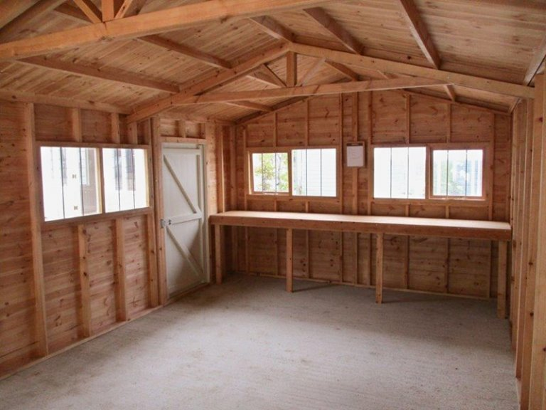 Inside the 3.6 x 3.0m Garage at our Cranleigh Show Site