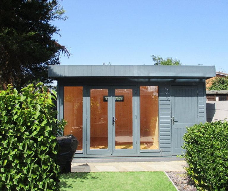 Stunning Salthouse Studio with storage partition in the colour Slate from our exterior paint system