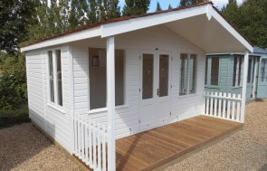 4.2 x 4.2m Morston Summerhouse with veranda at our Burford Show Site