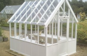 2.4 x 3.0m Greenhouse in Ivory at our Burford Show Site