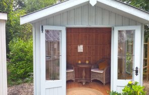 National Trust Ickworth Summerhouse at Trentham, Stoke in Painters Grey paint