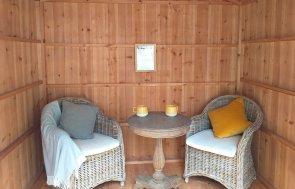 Unlined interior of an Ickworth Summerhouse from the National Trust Summerhouse range