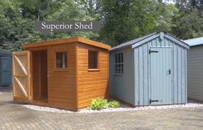 Trentham Walkthrough Video Screenshot for the website - showing two Sheds at our Trentham Show Site