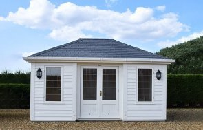 3.6 x 4.8m Garden Room in Farrow & Ball Pointing at our Narford HQ