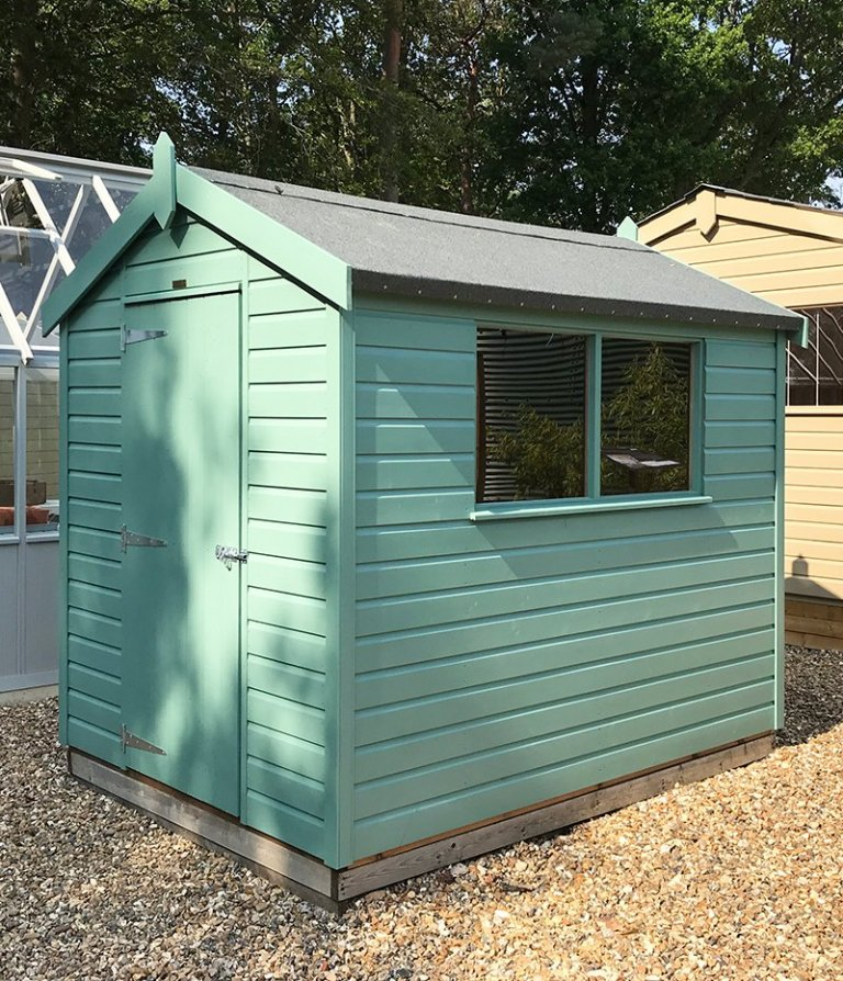 Side view of the 1.8 x 2.4m Classic Shed at Sunningdale