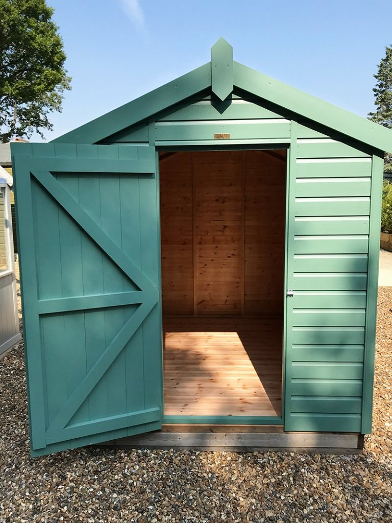 Front gable view of the 1.8 x 2.4m Classic Shed at Sunningdale
