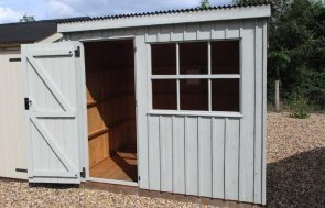 Natoinal Trust Oxburgh Garden Shed on display at Brighton Show site