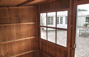 National Trust Oxburgh Garden Shed Interior at Nottingham Show Site