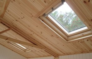 One of the Velux® windows inside the 3.6 x 4.2m Langham Studio in Ash at Nottingham