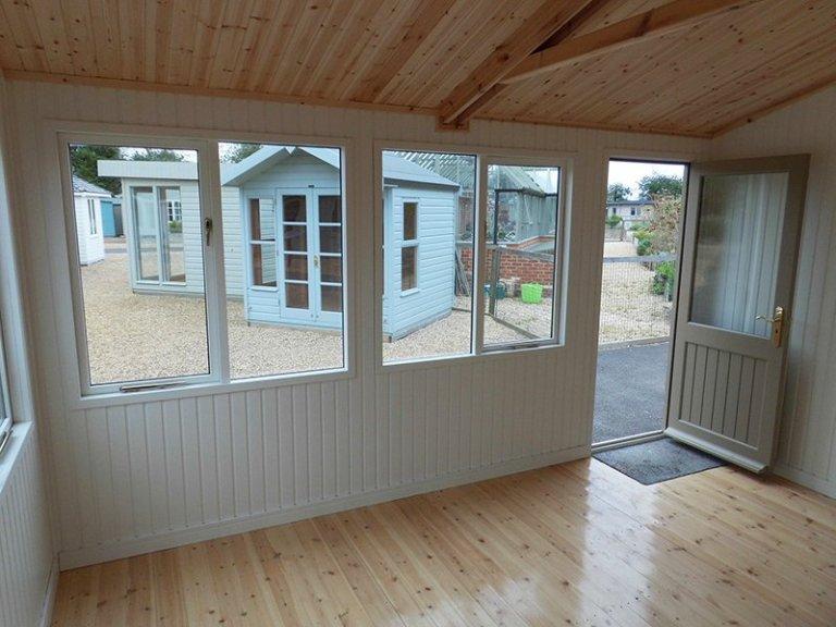 Inside the 3.6 x 4.2m Langham Studio at Burford