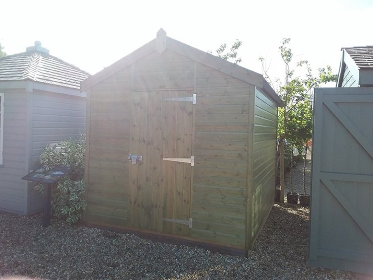 2.4 x 3.0m Superior Shed at Brighton with sun flare in photo