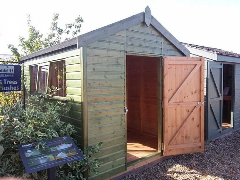 2.4 x 3.0m Superior Shed at Brighton with open door