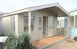 4.2 x 4.8m Morston Summerhouse in Taupe at Brighton