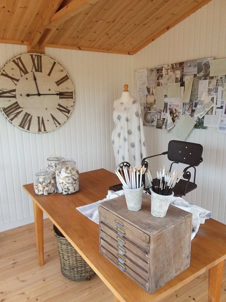Craft room set up inside Binham at Brighton