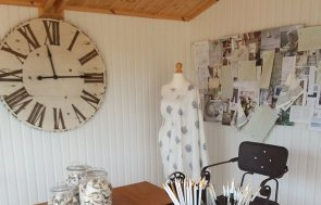 Craft room set up inside 3.6 x 3.0m Binham at Brighton