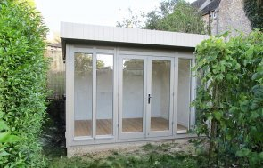 3.0 x 3.6m Salthouse Studio painted in Taupe from our exterior paint system