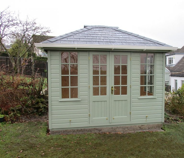 2_4 x 3_0m Cley Summerhouse in Lizard