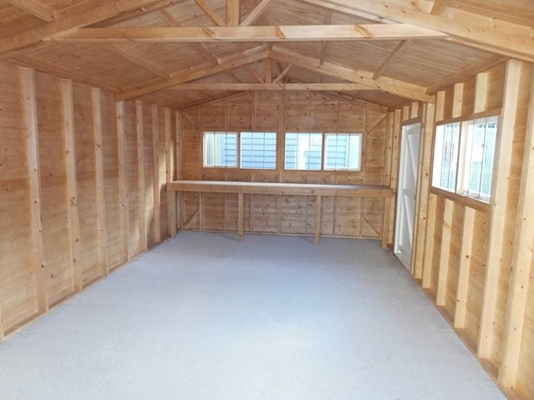 Inside the 3.6 x 6.0m Garage at Burford