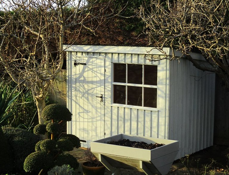 1.8 x 2.4m Oxburgh National Trust Shed in Disraeli Green