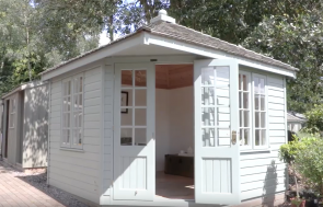 Screenshot of a 3.0 x 3.0m Weybourne Summerhouse at Trentham Show Site from Weybourne walkthrough video