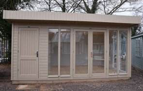3.0 x 4.8m Salthouse Studio at St Albans in the colour Taupe from our exterior paint system