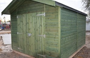3_0 x 3_6 Superior Shed At St Albans in Sikkens Green