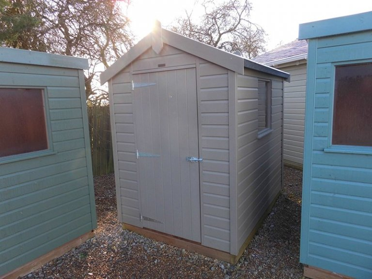 Burford Classic Shed 1.5 x 2.1m in Stone