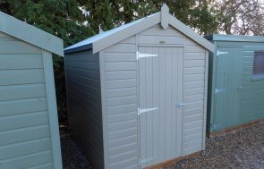 Burford January 2020 Classic Shed 1.8 x 2.4m Stone with an Apex Roof covered in Heavy Duty Roofing Felt