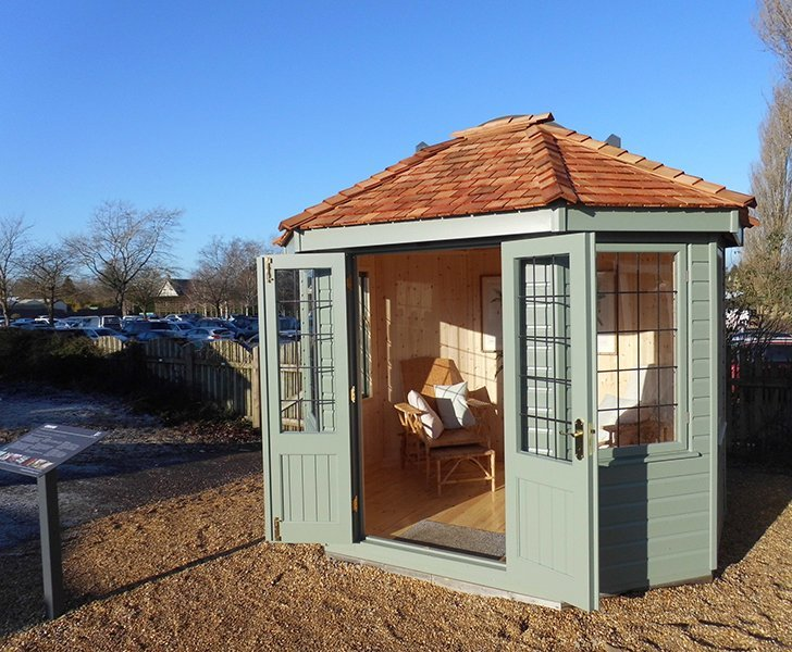Burford Wiveton Summerhouse 2.4 x 3.0m with open doors