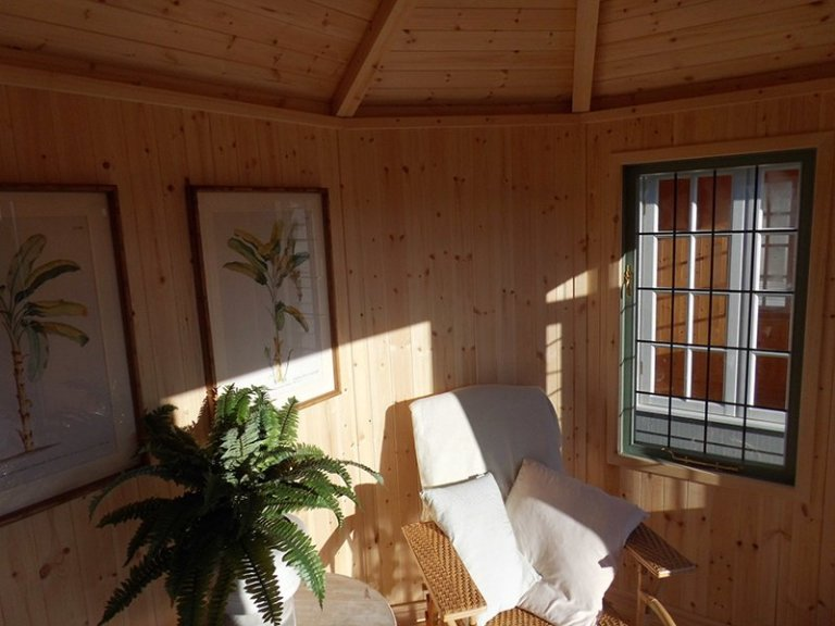 Inside the Burford Wiveton Summerhouse 2.4 x 3.0m