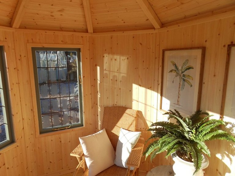 An Internal View of the Burford Wiveton Summerhouse 2.4 x 3.0m