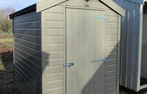 Brighton Classic Shed 1.5 x 2.1m in Stone