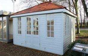 Brighton Cley Summerhouse 3.0 x 3.6m in Verdigris