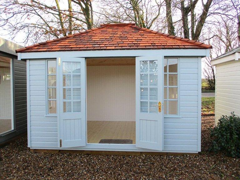 Brighton Cley Summerhouse 3.0 x 3.6m with open doors
