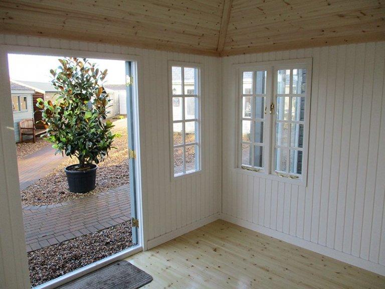 Inside the Brighton Cley Summerhouse 3.0 x 3.6m