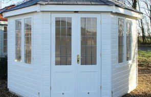 Brighton Wiveton Summerhouse 3.6 x 3.6m in Cream