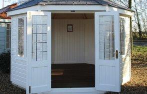 Brighton Wiveton Summerhouse 3.6 x 3.6m with open doors in Cream