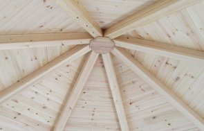 A photo of the roof inside the Brighton Wiveton Summerhouse 3.6 x 3.6m in Cream