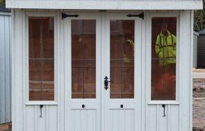 St Albans 1.8 x 2.4m Flatford Summerhouse in Disraeli Green