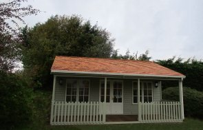 20 x 20ft Pavilion Garden Room in two-tone Farrow & Ball French Gray & Pointing
