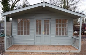 4.2 x 4.2m Morston Summerhouse at St Albans in Sage