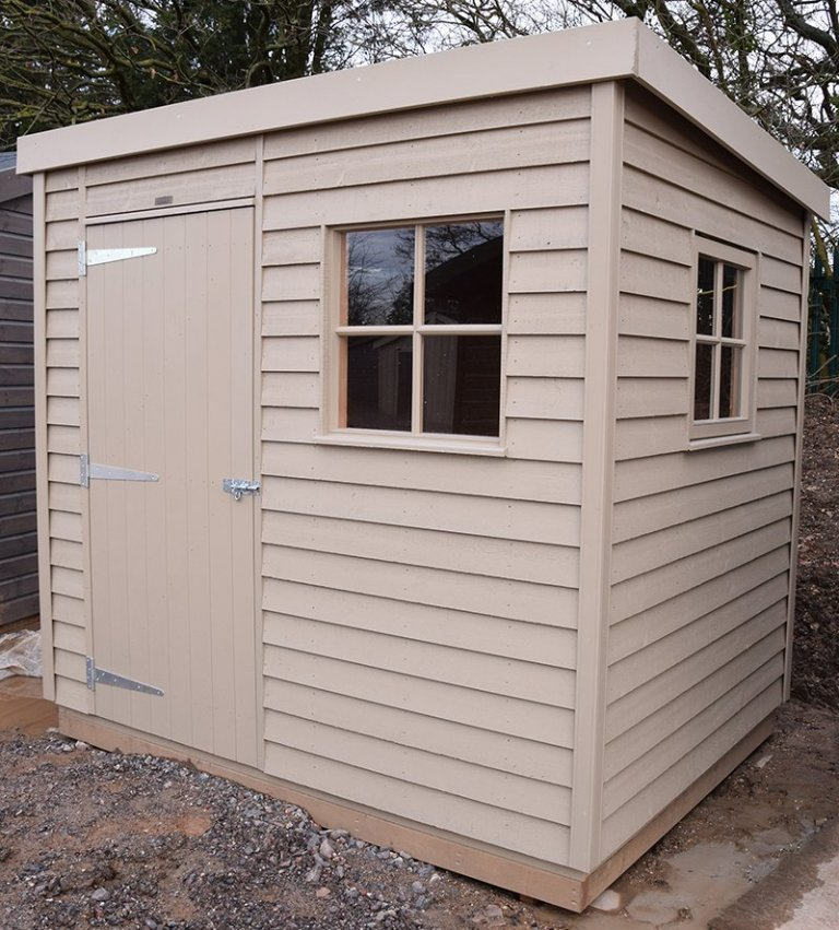 1.8 x 2.4 Superior Shed at St Albans In  Taupe