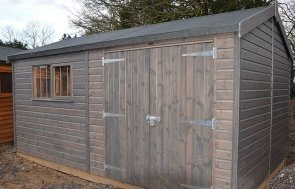 3.0 x 4.8m Superior Shed at St Albans in Sikkens Grey