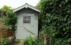 1.5 x 2.1m Fully Lined and Insulated Superior Shed in Sage